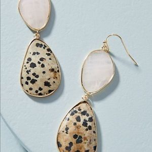 Anthropologie Double Drop Earrings NWT